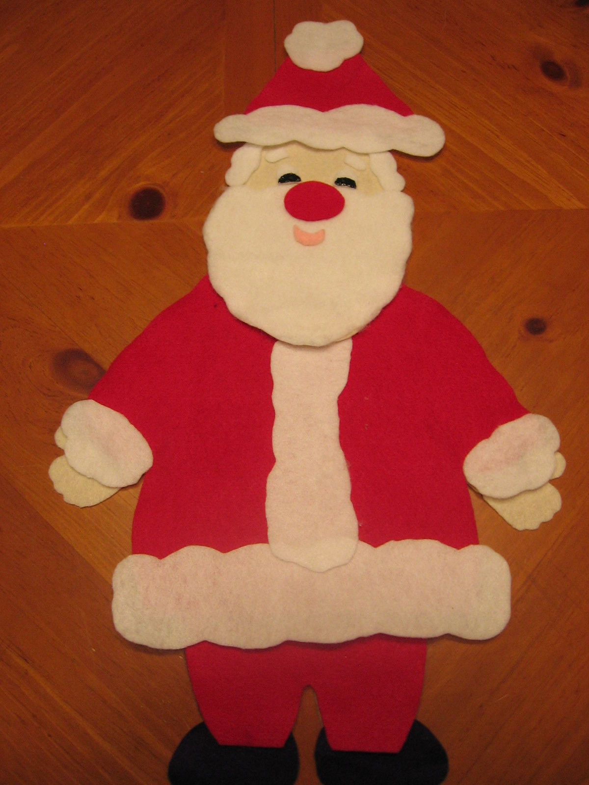 Santa Suit Template Santa realizes that maybe his