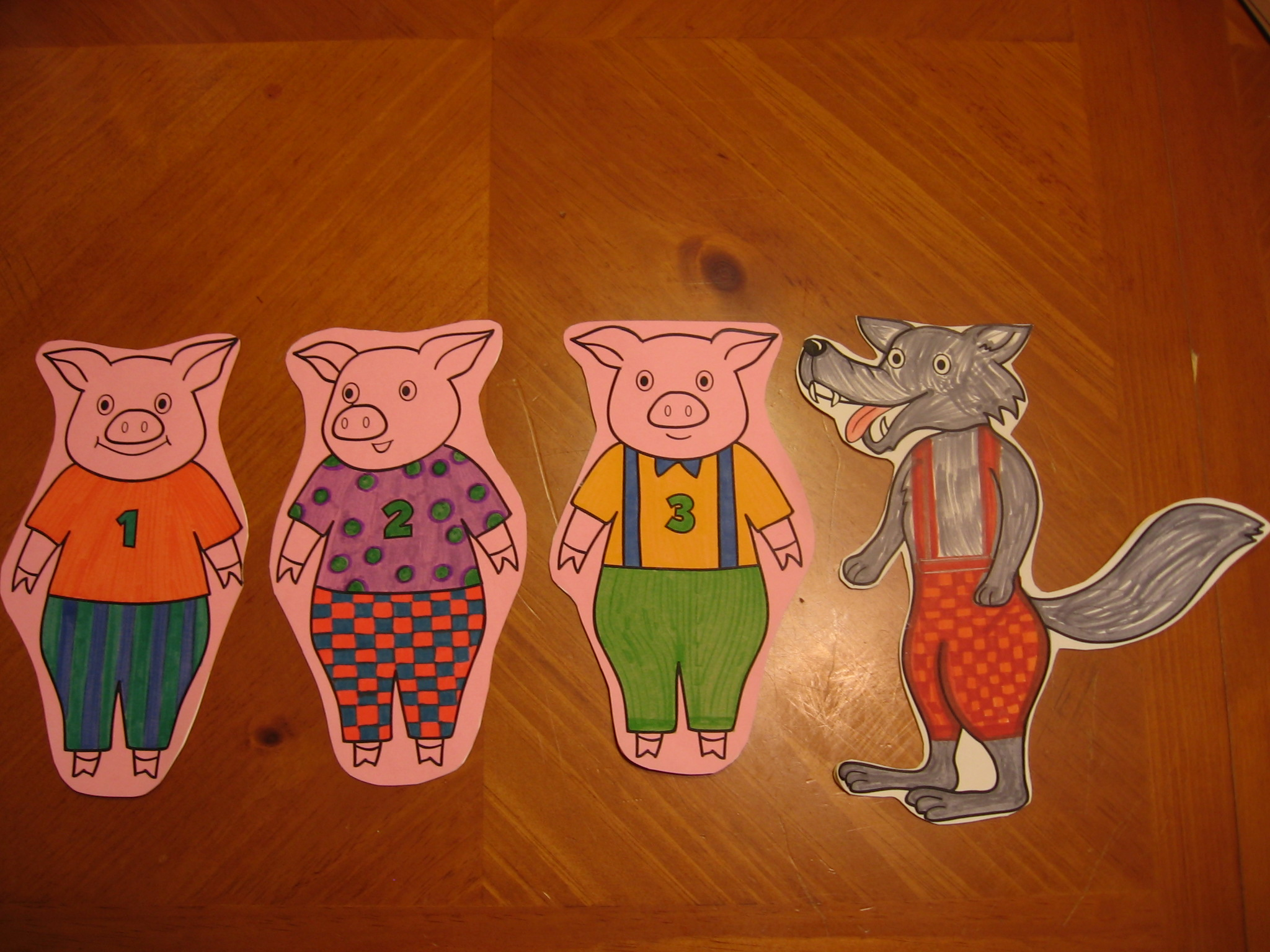 The storytime lady recipes for reading for The three little pigs puppet templates